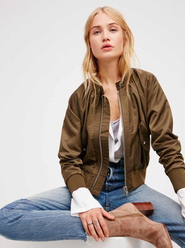 Cute jackets in the bomber style look great when classic cut.