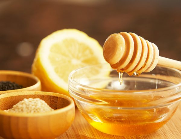 natural skincare with honey and lemon