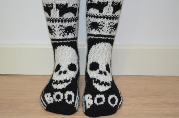 Halloween clothing and socks should be worn through October.