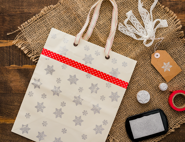 Reduce holiday waste with these chic DIY gift bags made from recycled materials