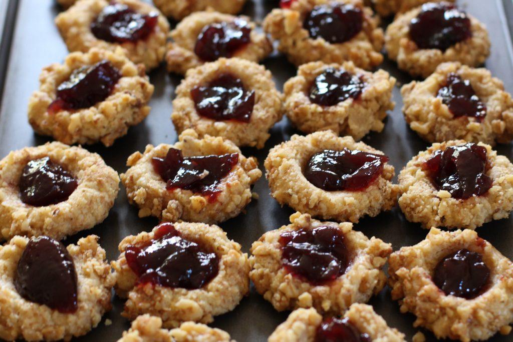 Vegan gluten-free thumbprint cookie recipe