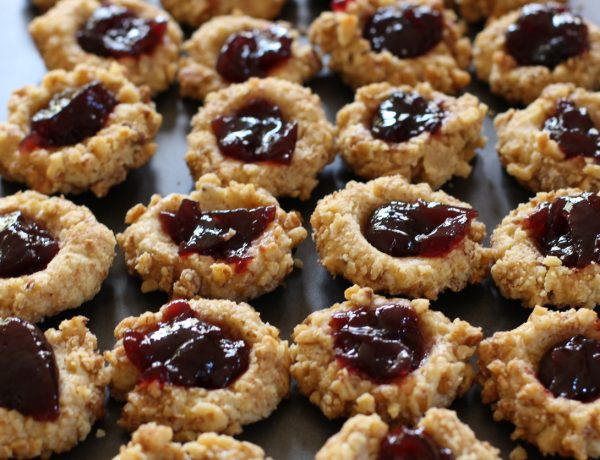 Vegan gluten-free thumbprint cookie recipe
