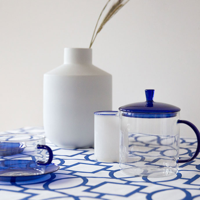 Blue and white decor finds.