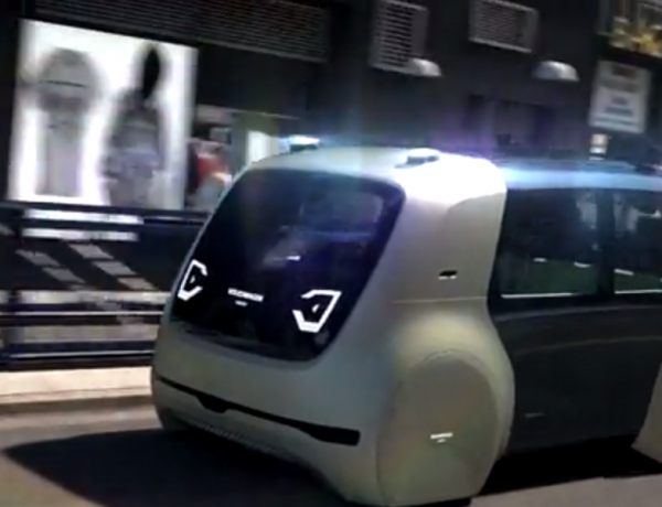 This self-driving electric car looks out of this world.