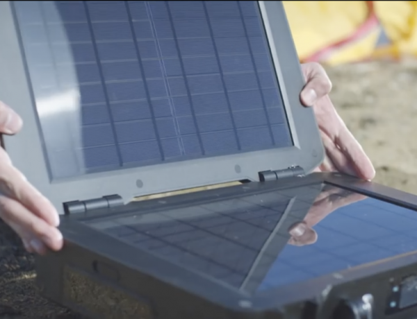 A solar briefcase could make outdoor charging super simple.