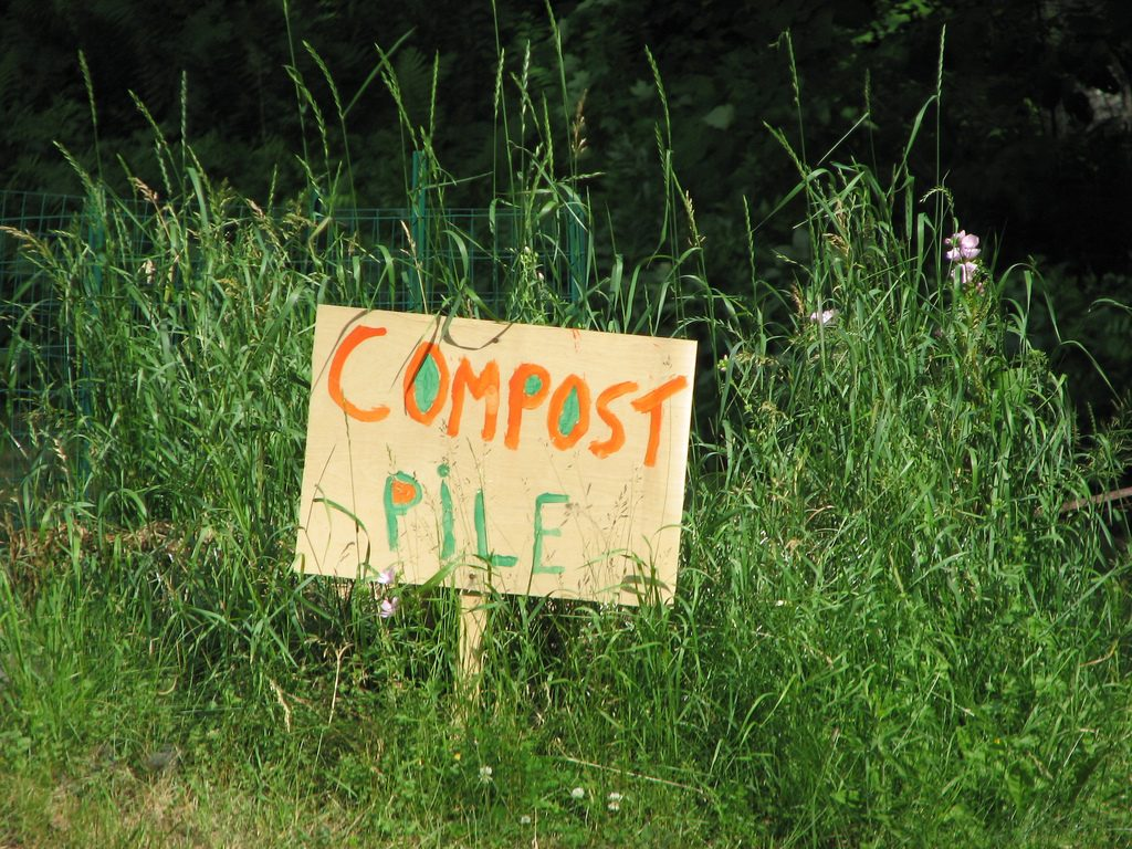 A compost pile is a great addition to any yard.