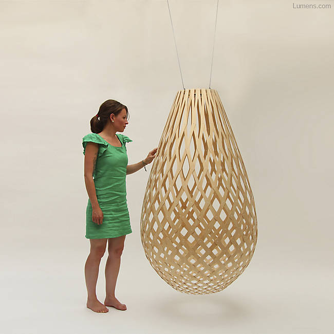 Eco-friendly pendant lamps.
