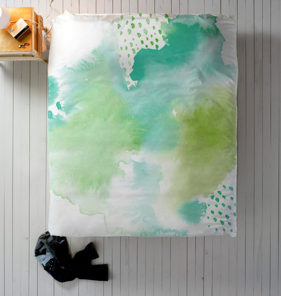 Add the watercolor effect to your home.