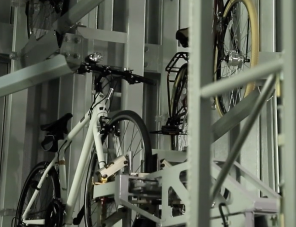 Bike storage with bells and whistles.