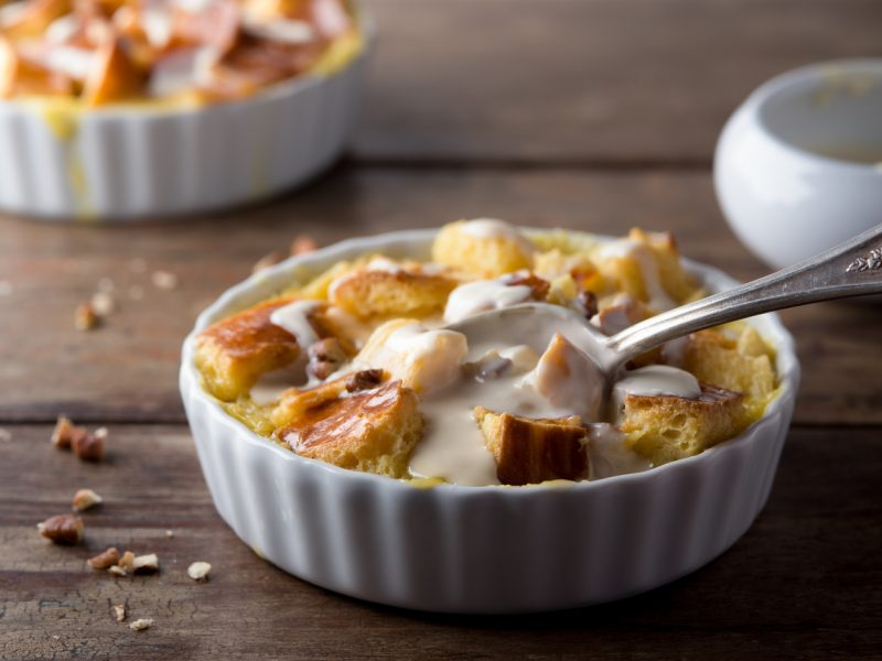 Ginger-Pear Bread Pudding Gives Leftover Thanksgiving Bread a New Life