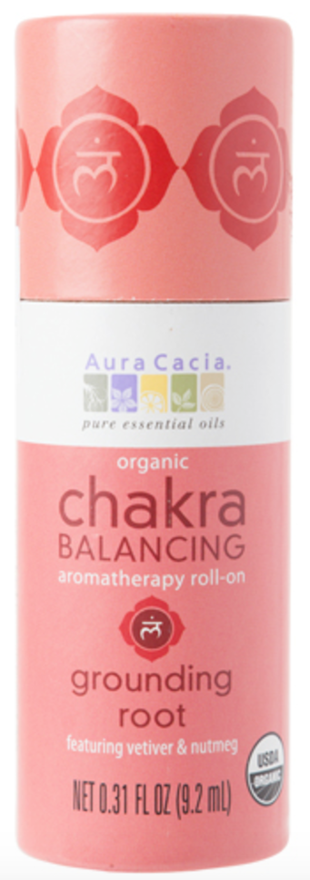 Aura Cacia Grounding Root Organic Chakra Balancing Roll On