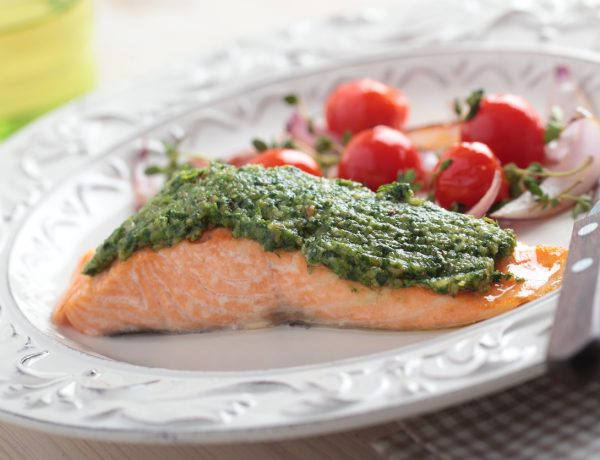 Super Omega Salmon Recipe with Sacha Inchi Nut Pesto (Get All Your Omegas!)