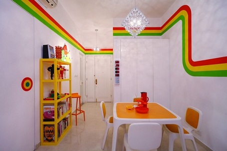 Dinning Home Decor Ideas With Vivid Colors In Hong Kong Rainbow