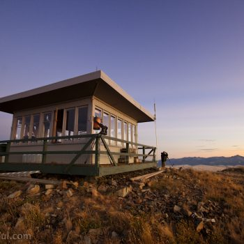 The Dixie Butte firetower is 14x14 ft and is manned all summer long by a fire watch on this 360 degree mountain top view.
