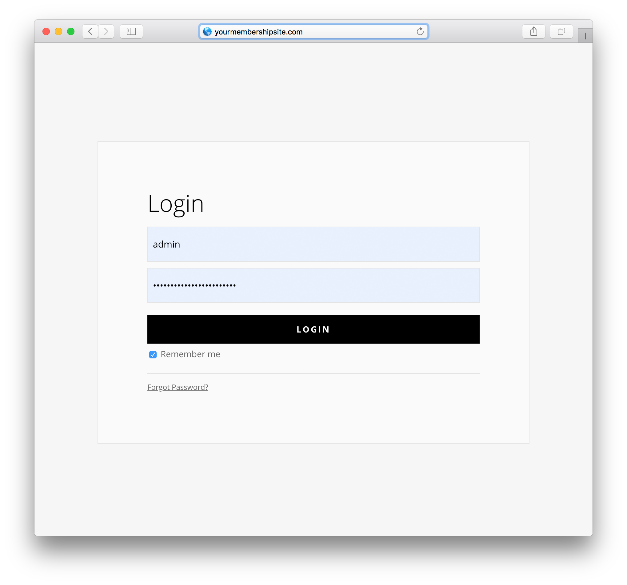 divi layout pack for membermouse login page example