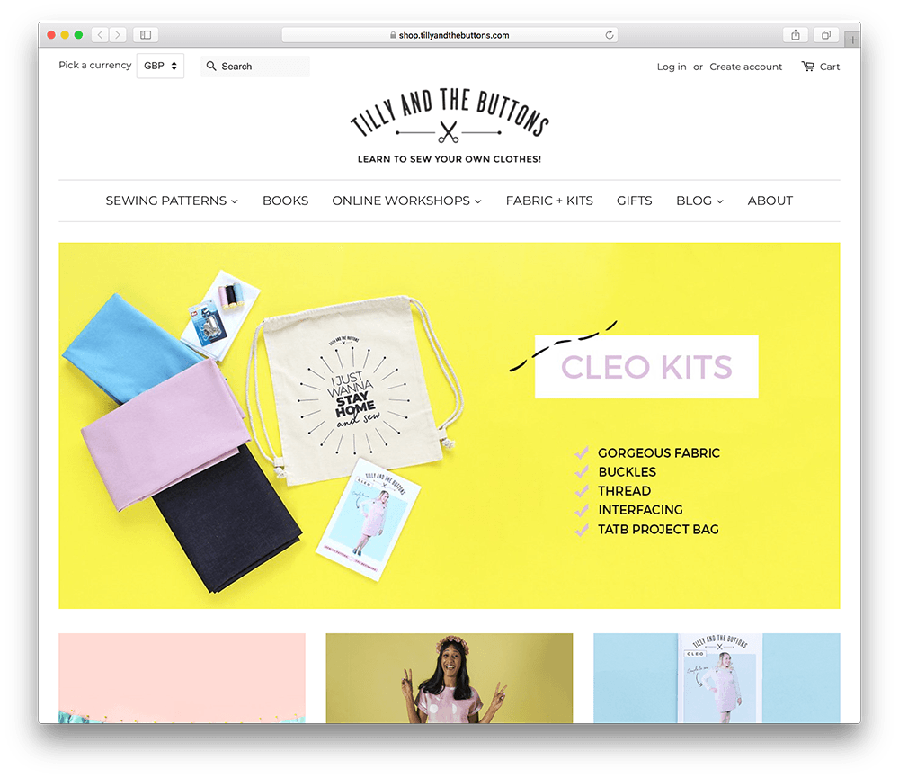 a diy sewing membership site example