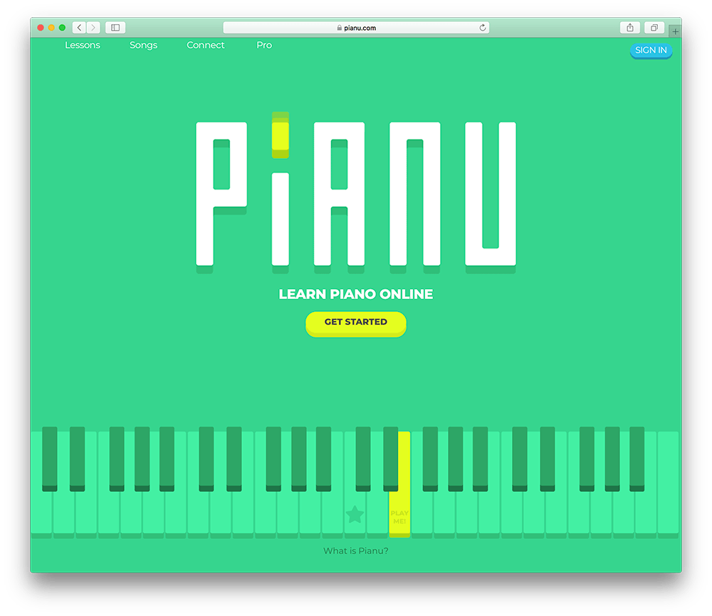 a piano education membership site built with wordpress