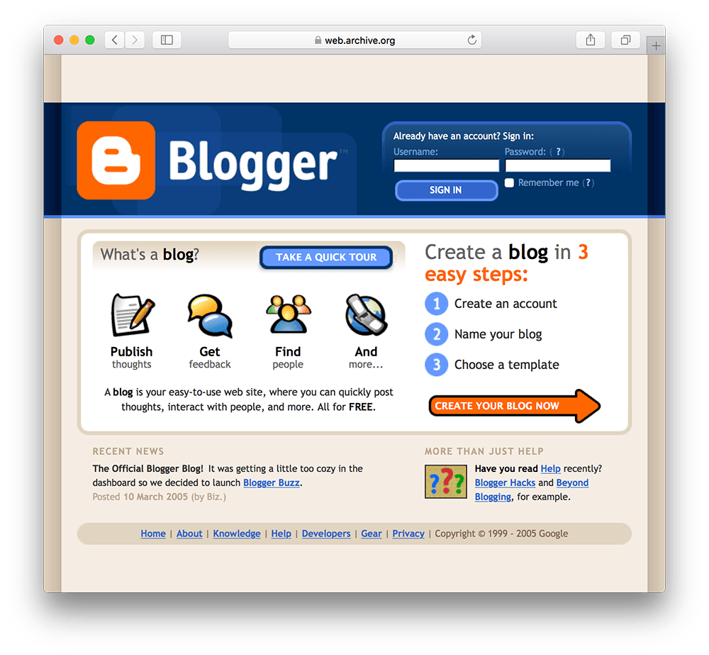 old blogger photo before wordpress