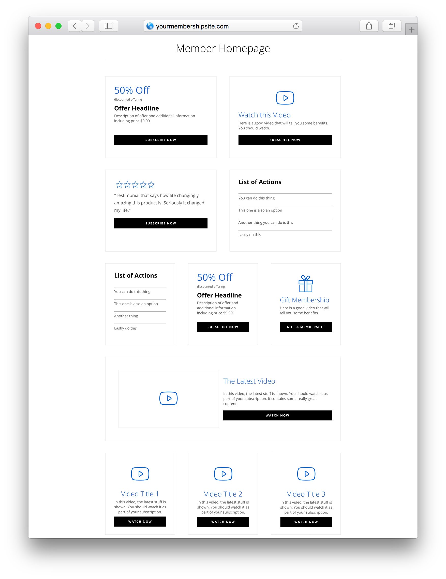 divi layout pack for membermouse member homepage example