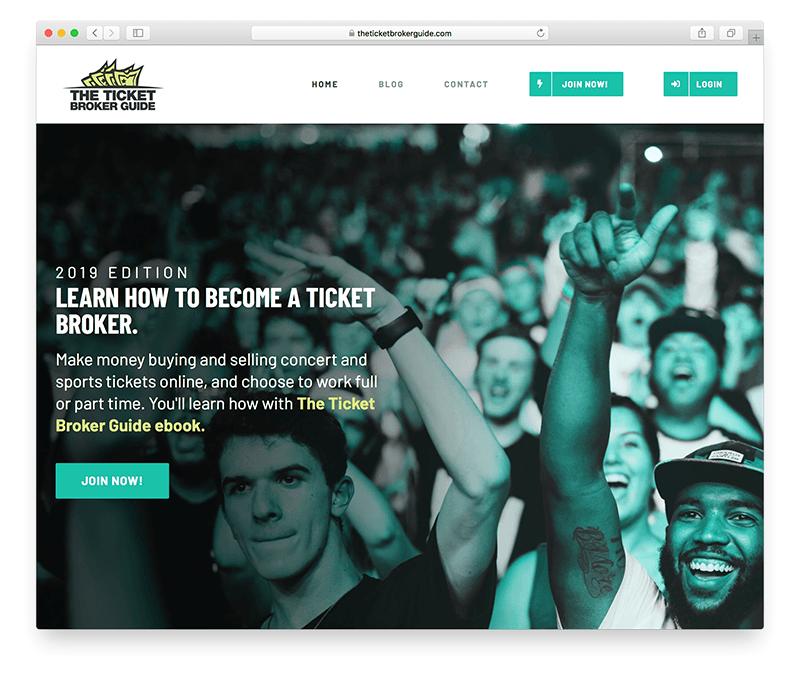 ticket broker membership site example