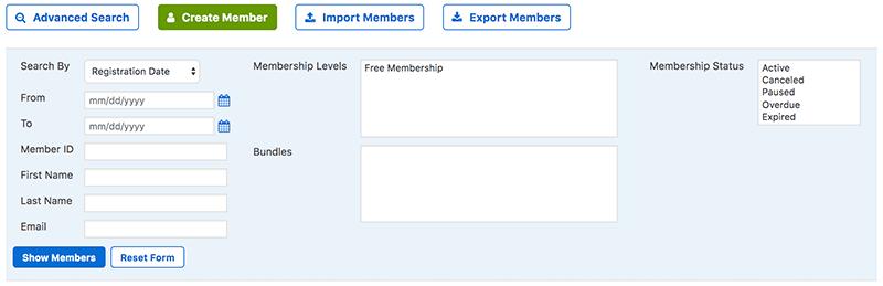 membermouse manage members