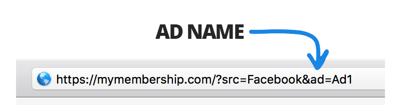 ad name in referring link