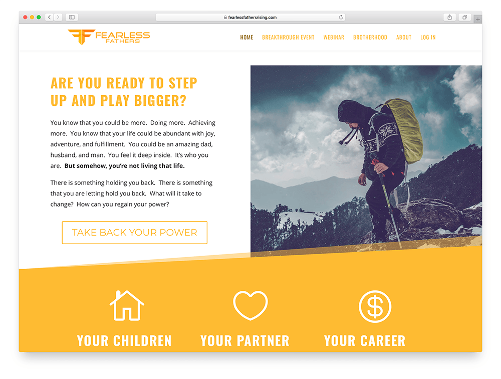 online course website example