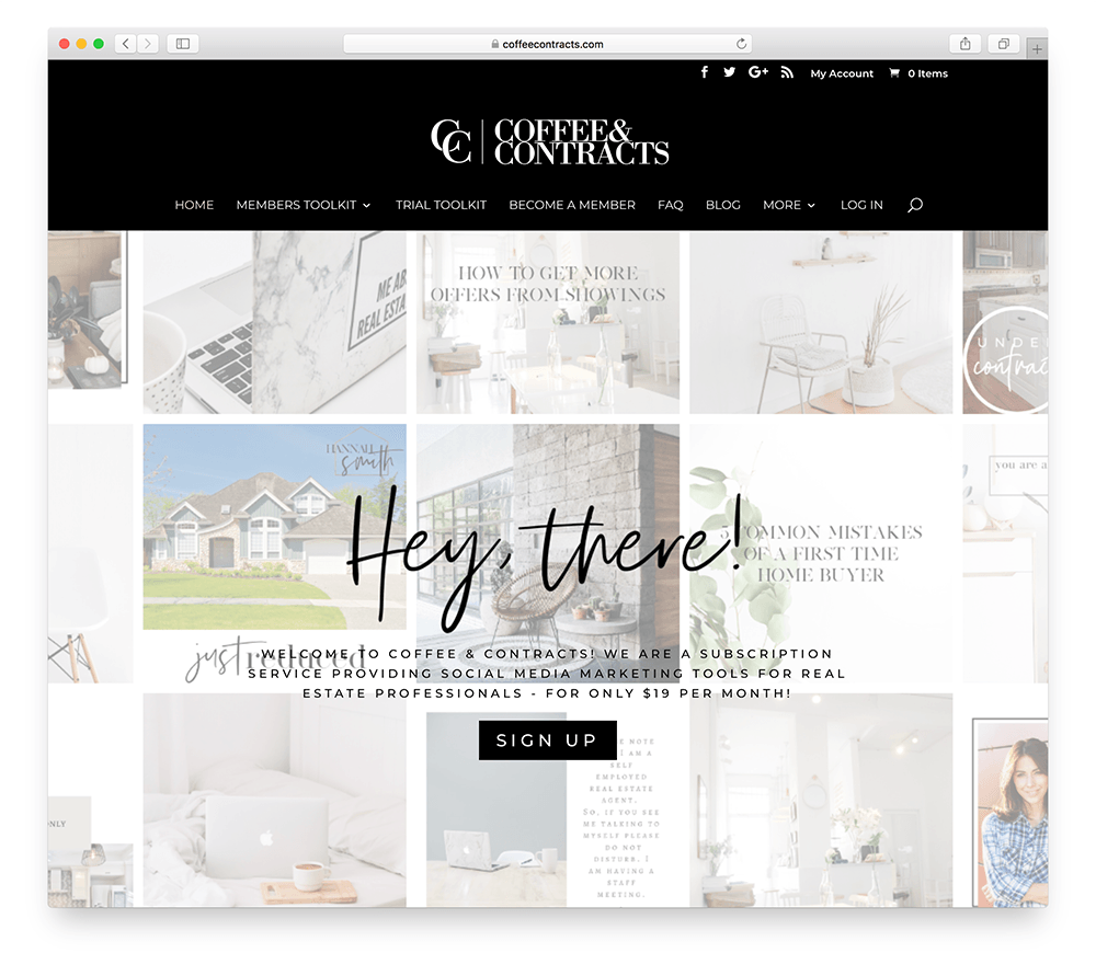 an example of an online subscription business for realtors