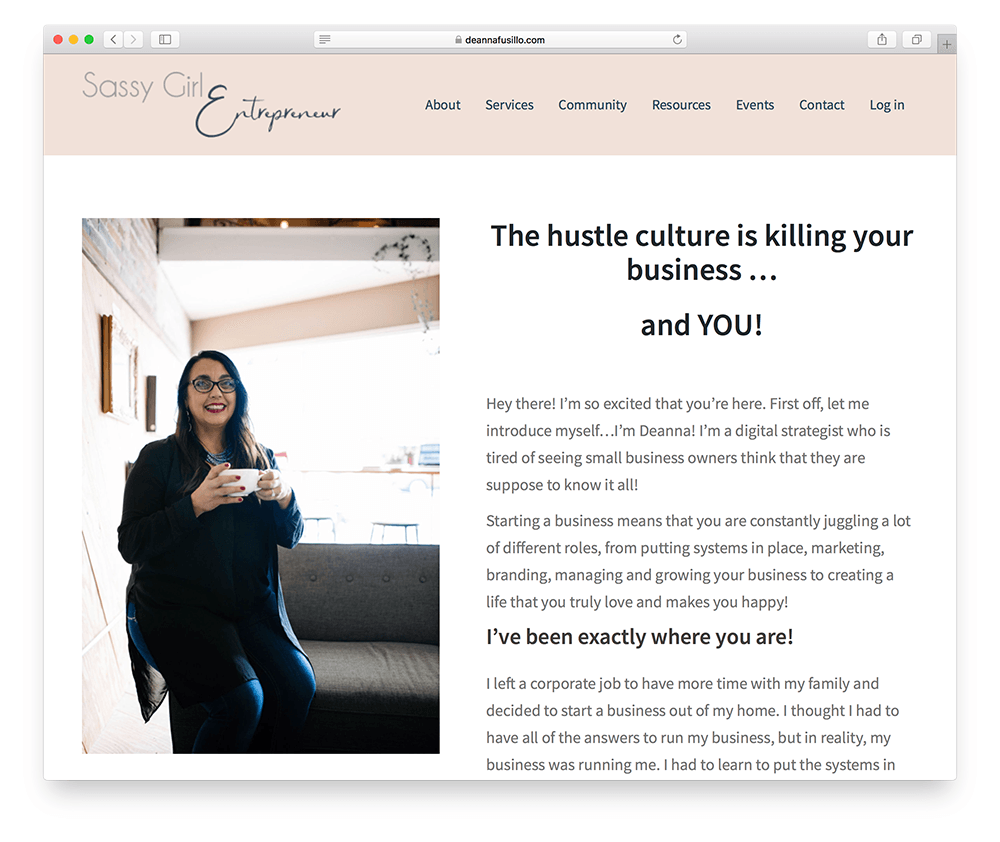 landing page for an online membership site