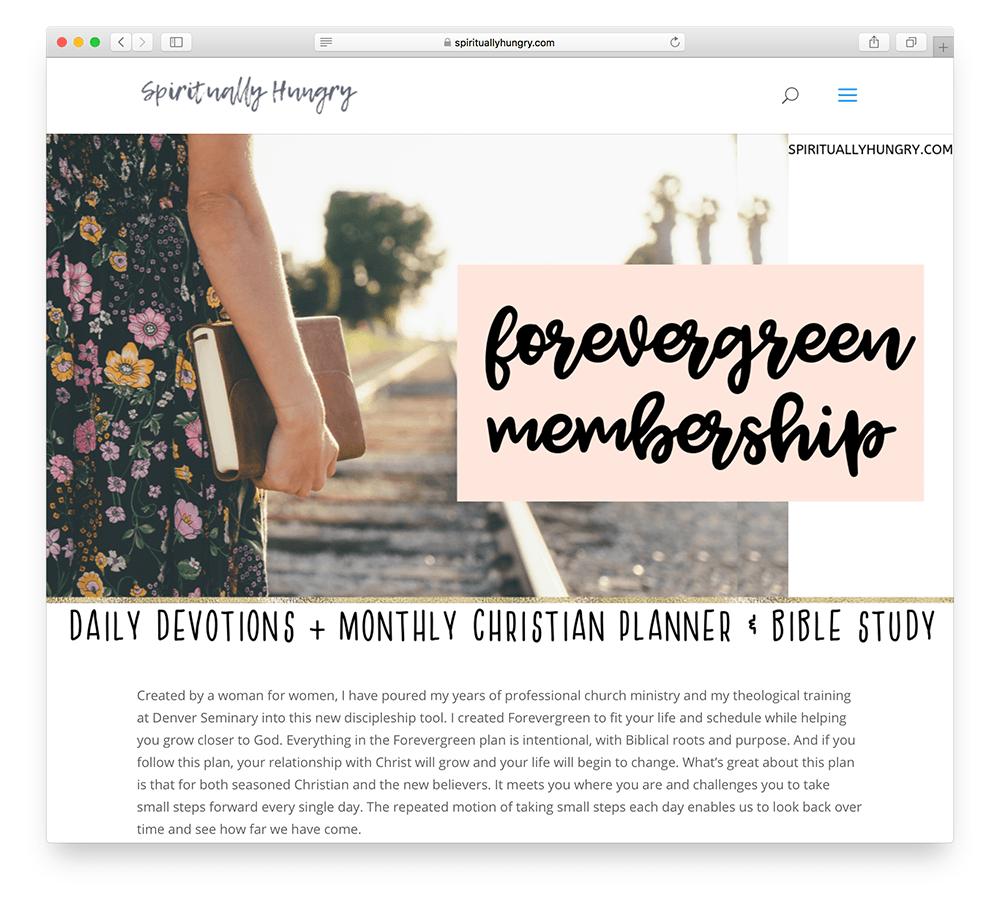 spiritual community membership site example