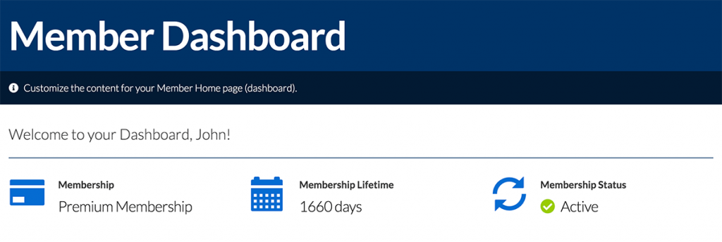 examples of smarttags on the member dashboard