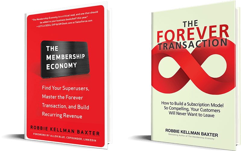 the membership economy and the forever transaction books by Robbie Kellman Baxter