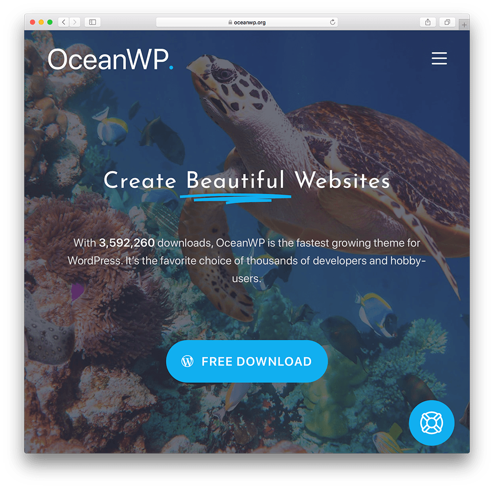 oceanwp wordpress membership site theme
