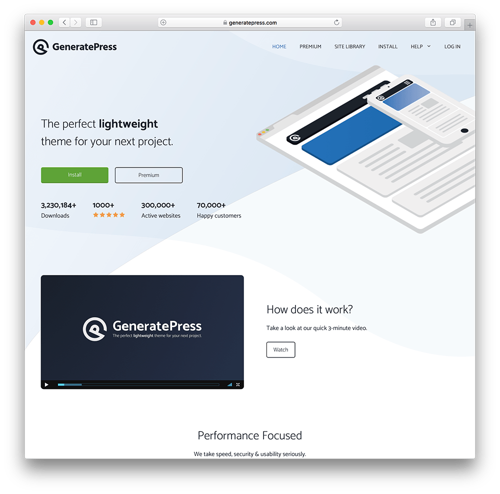 generatepress wordpress membership site theme