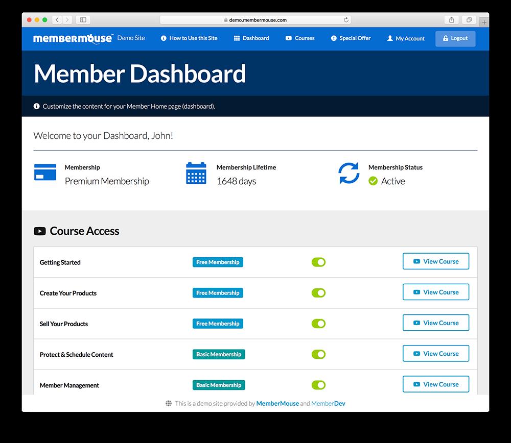 memberdev custom wordpress membership site theme