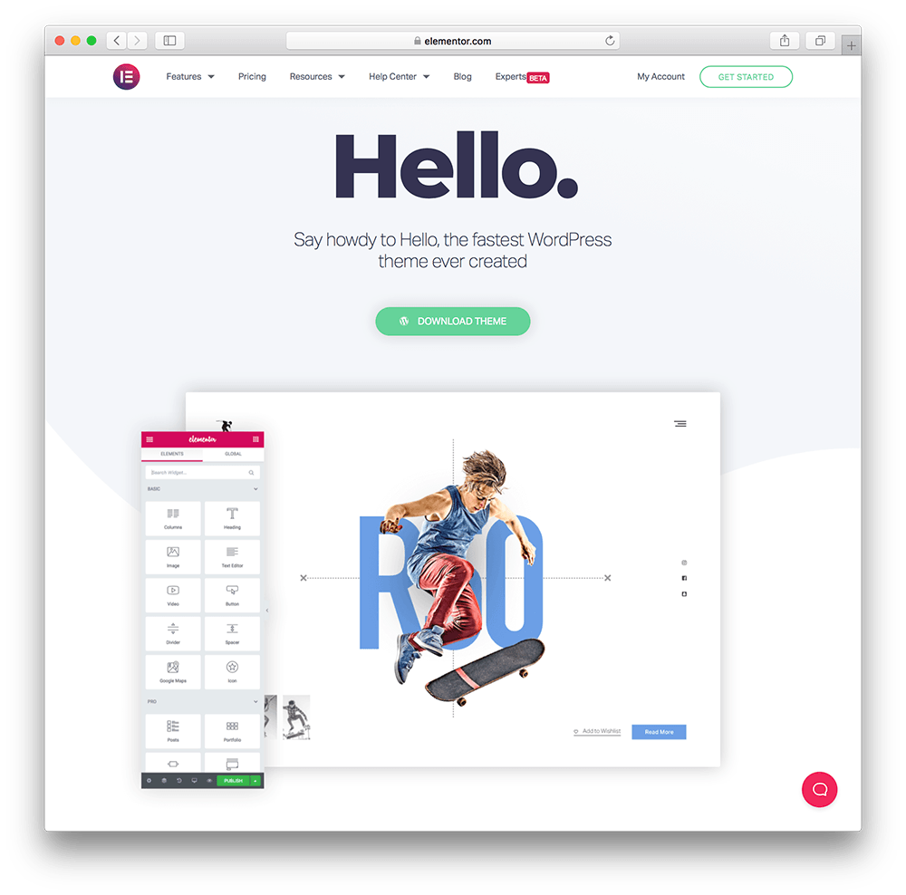 hello from elementor wordpress membership site theme