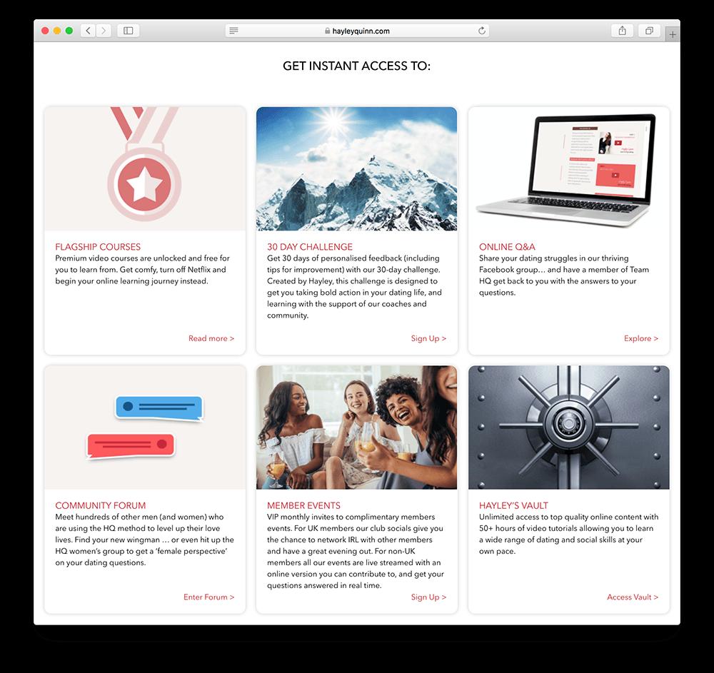 hayley quinn membership site example