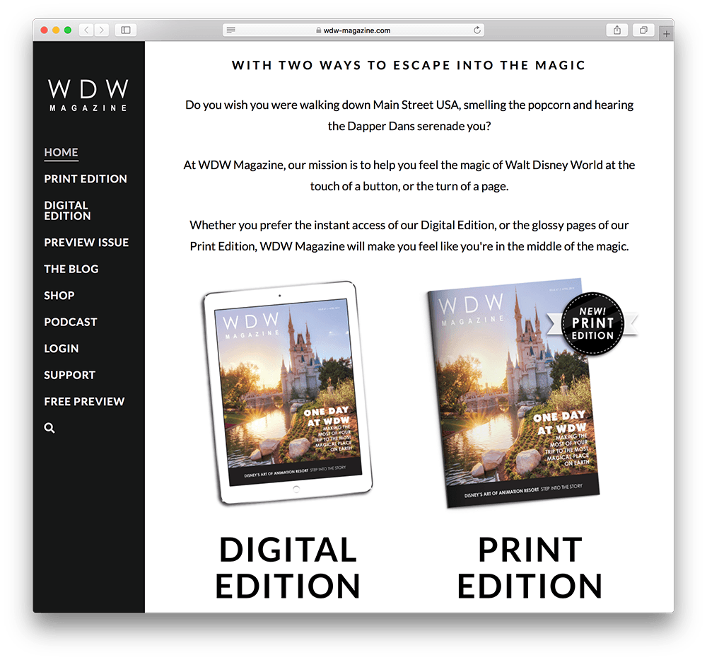 wdw magazine subscription