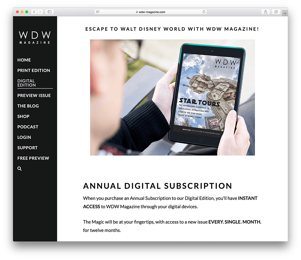 wdw magazine digital subscription