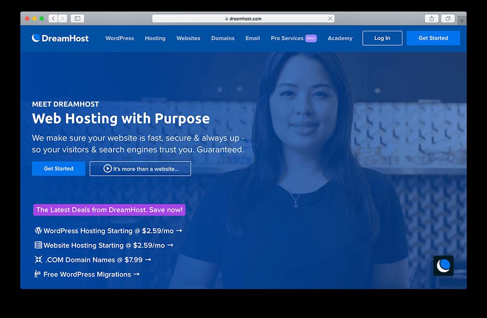 dreamhost website hosting for membership sites built with wordpress