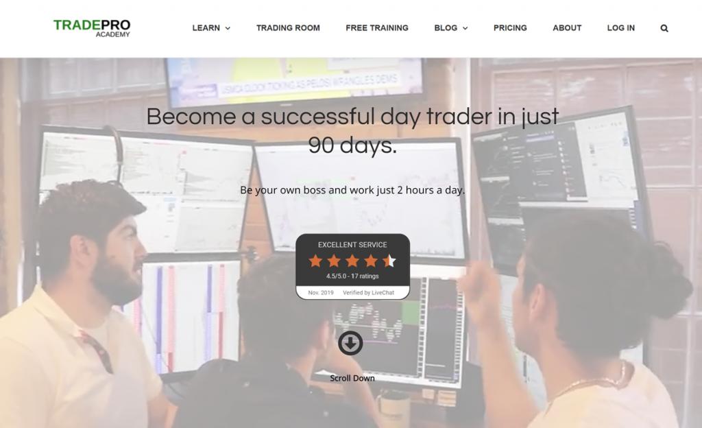 TradePro Academy homepage