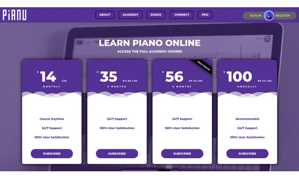 membership pricing page