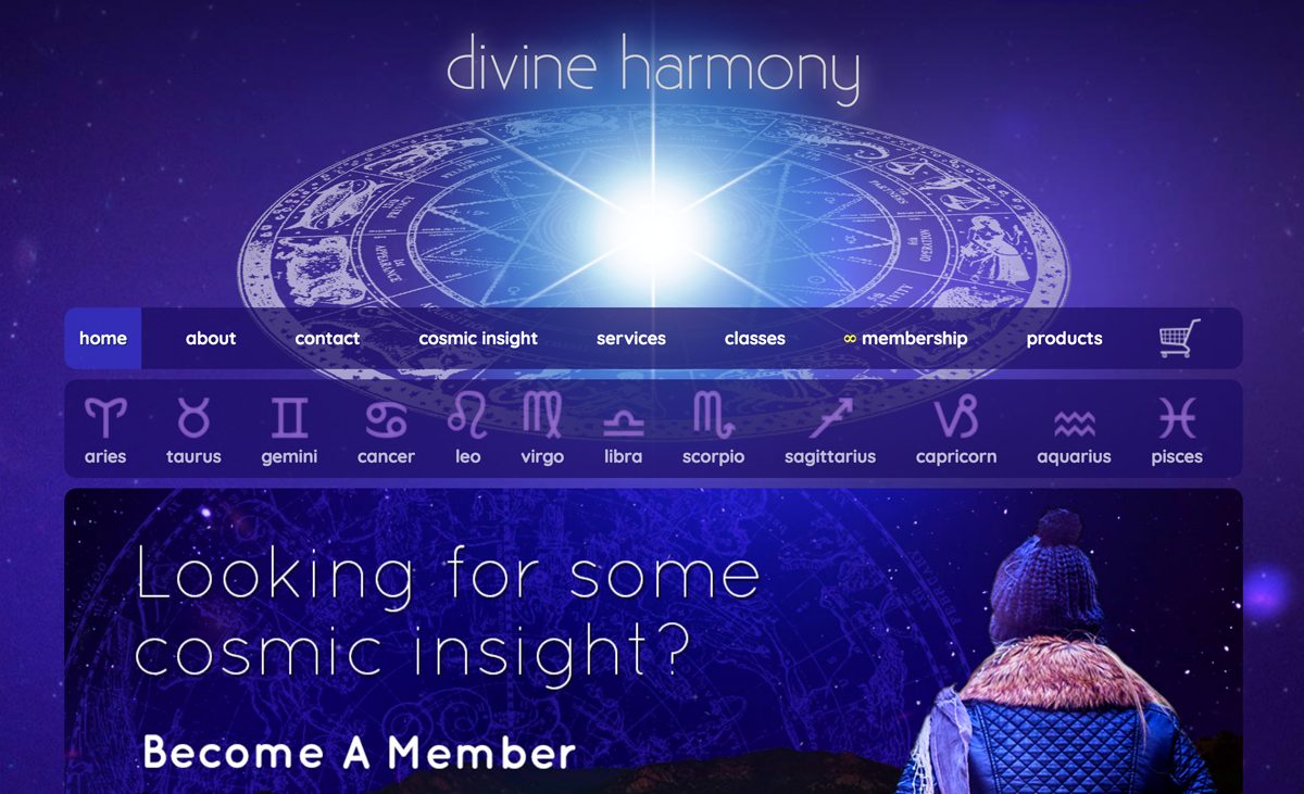 Divine Harmony homepage