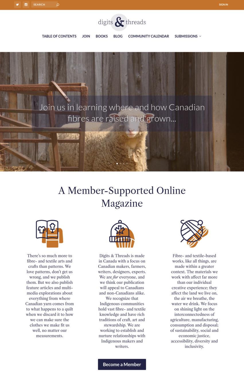 Member supported online magazine