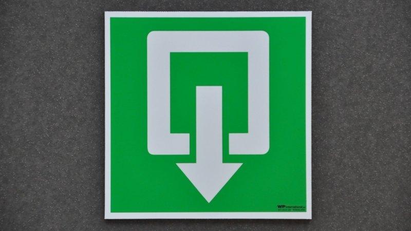 Dibond pictogrammen of veiligheidspictogrammen aluminium sandwich om veiligheidssignalisatie gebouw in orde te brengen.