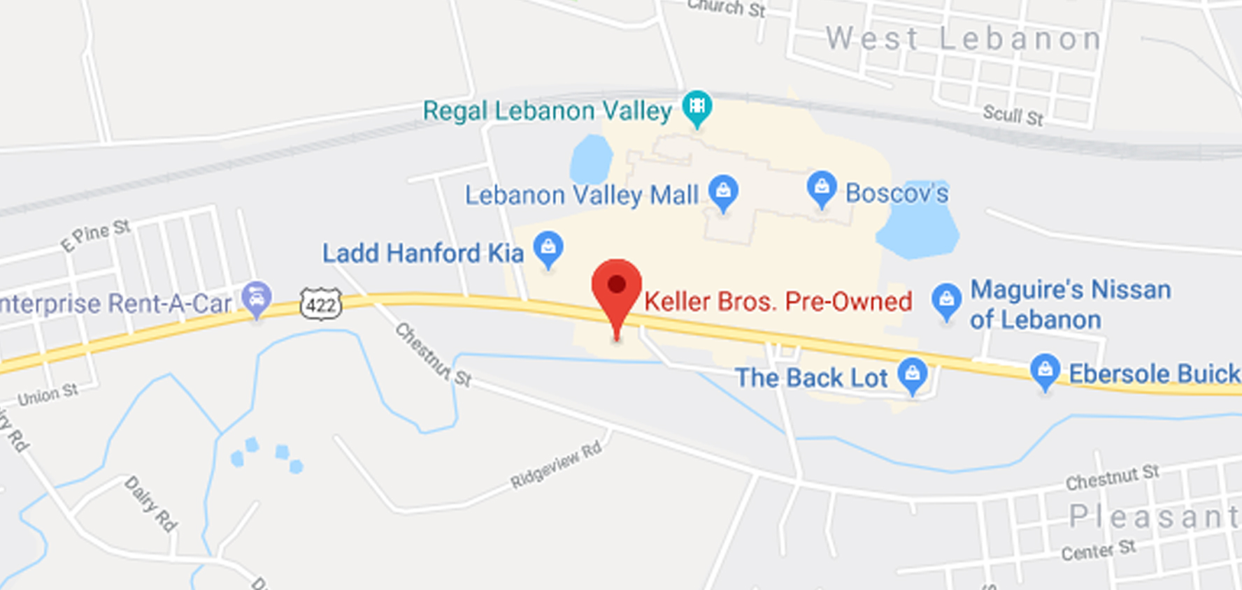 keller brothers pre-owned map