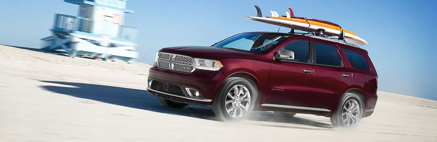 2019 dodge durnago driving on the beach