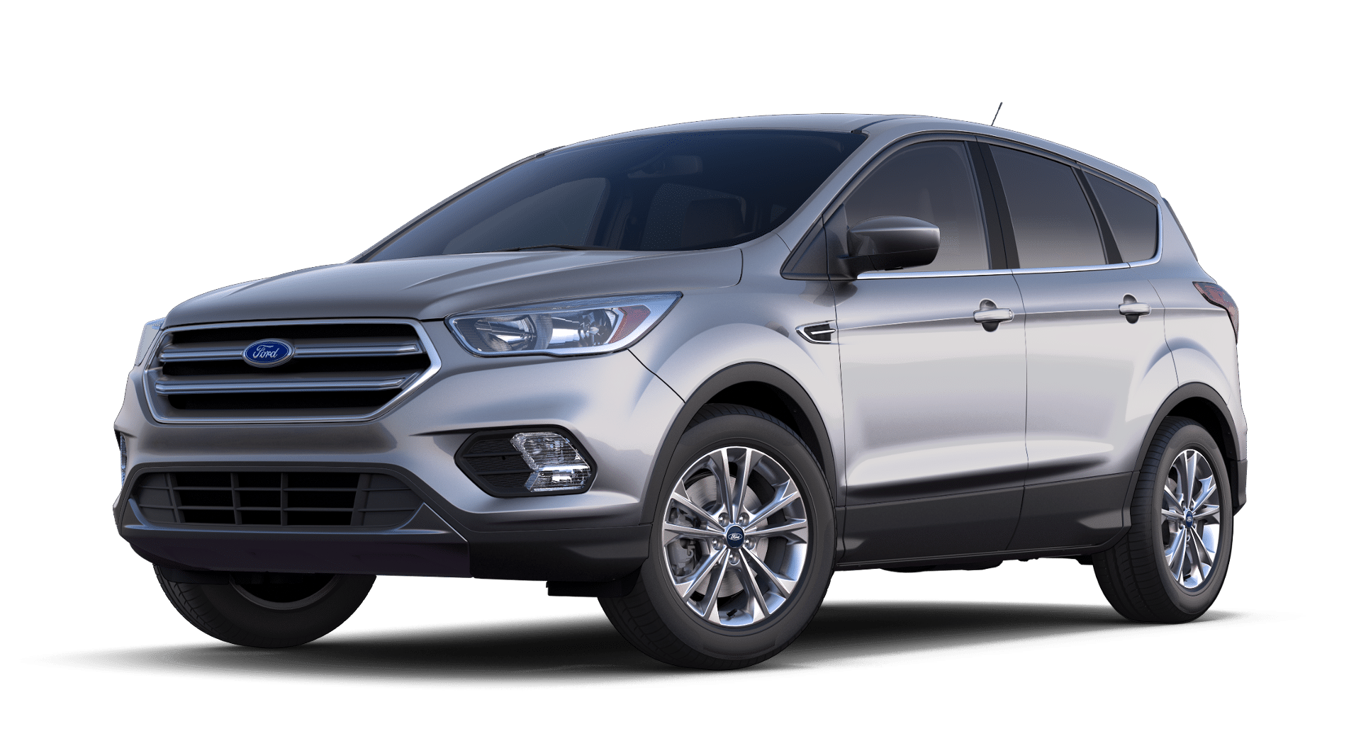 2019 ford escape silver isolated