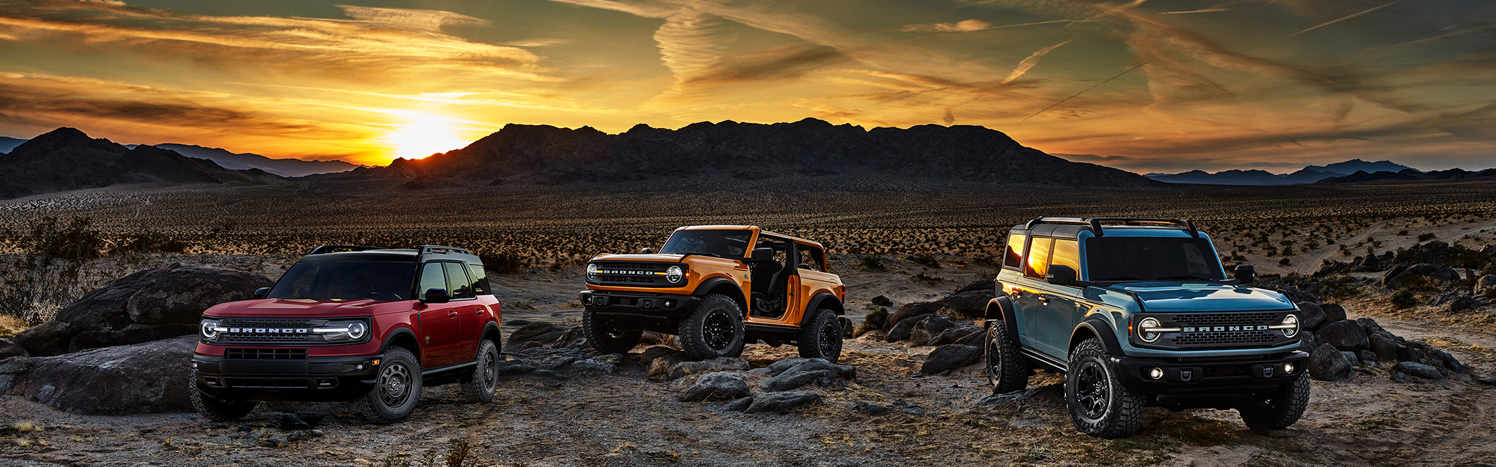 the 2021 ford bronco 2-door, 4-door, and sport. built ford proud.