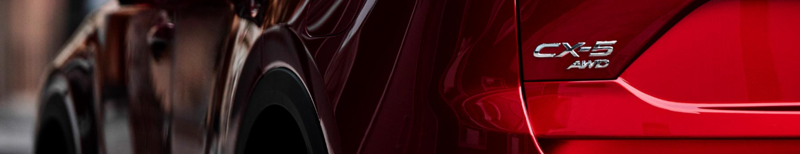 closeup of the back of a red 2019 mazda cx-5
